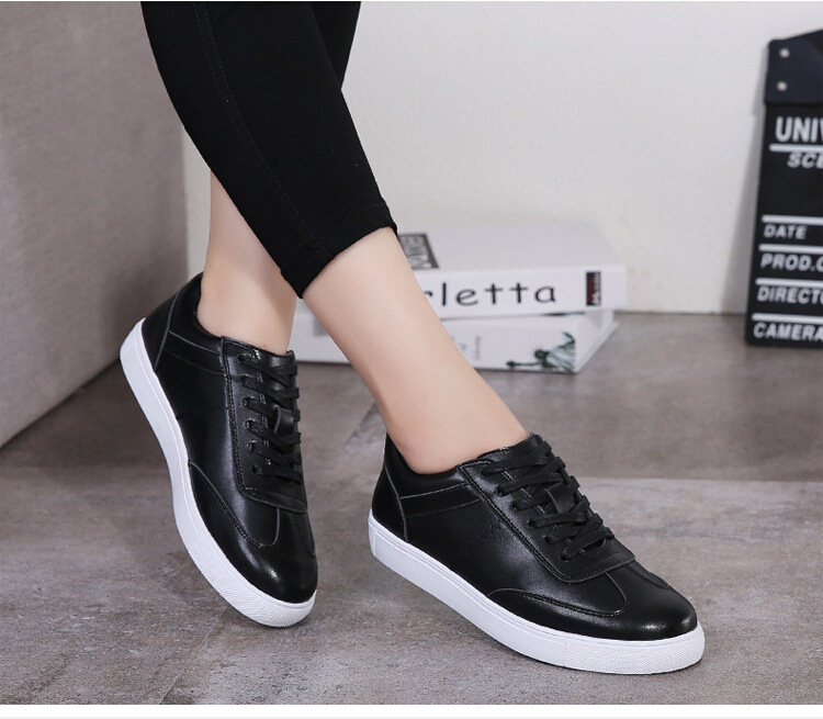 women shoes Genuine leather Lace-Up flats white shoe Soft bottom loafers Casual Shoes size 35-40 13
