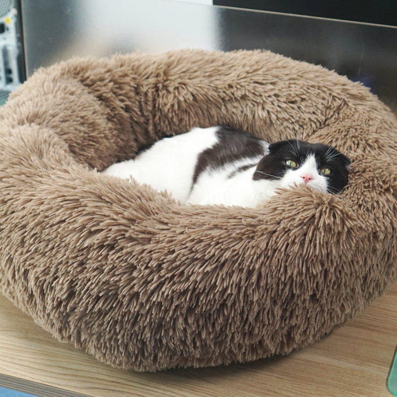 JORMEL Deep Sleep Dog House Kennel Round Nest Autumn Winter Cat Mattress for Small Medium Dogs Round dog cat house in Houses Kennels Pens from Home Garden