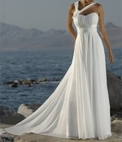 Sexy Chiffon Wedding Formal Occasion Wedding Dress Ruffles Bridal Gown Beach Wedding Dress Custom Size