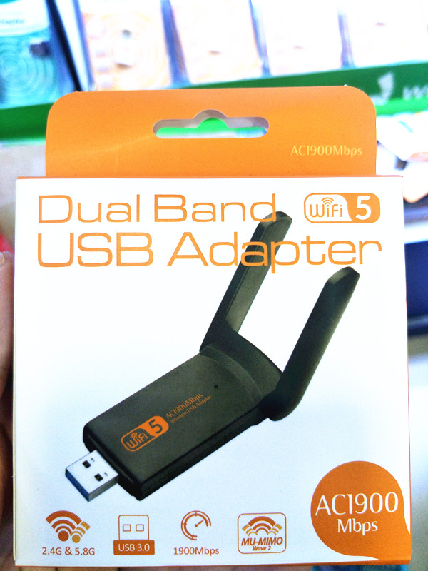 802.11ac 1900Mbps Dual Band 2.4/5Ghz Wi-Fi USB Adapter AC1900