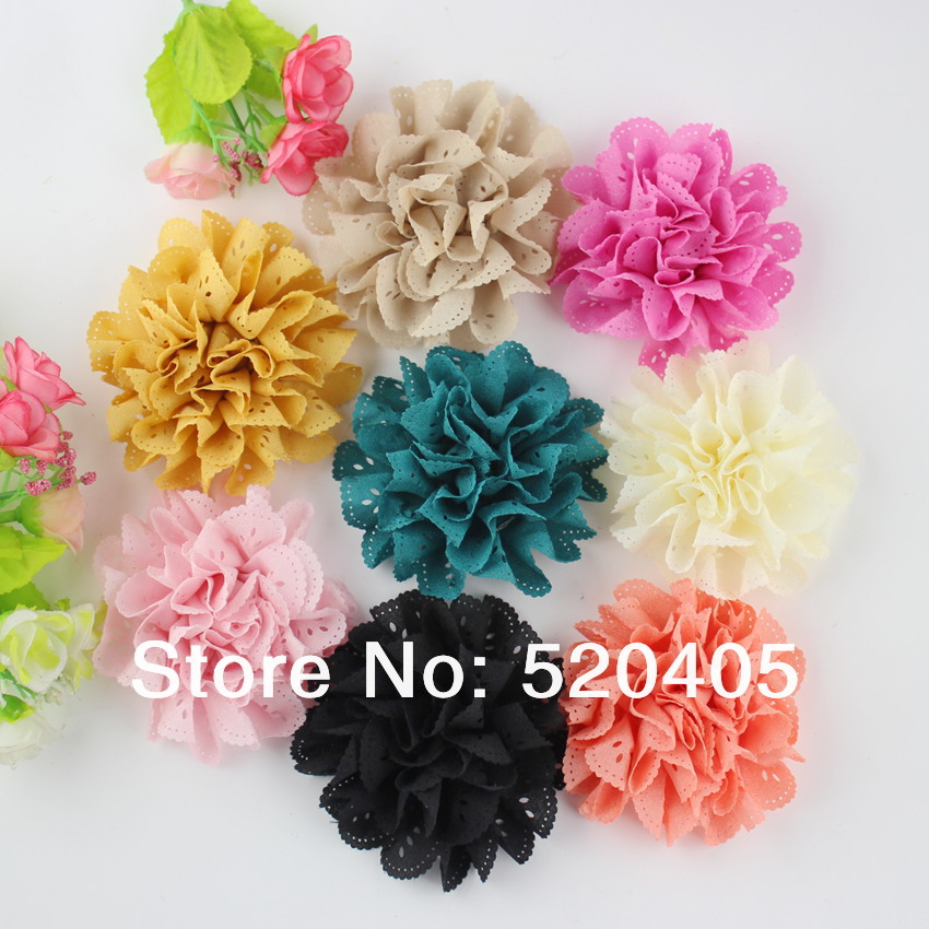 50 pcs children accessories fabric flower for baby for Wholesale baby fabric