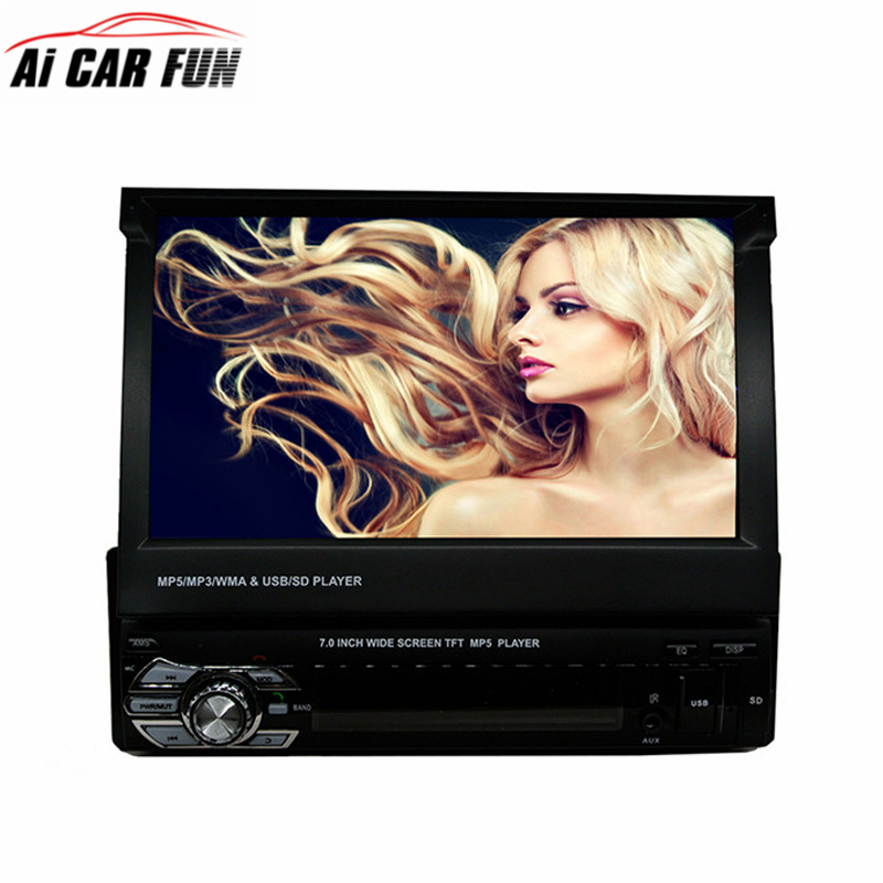 RM GW9601G 1 Din font b Car b font Video MP5 Player 7 Inch HD Touch