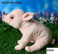 about 23cm cartoon pig plush toy lovely pig soft doll baby toy birthday gift w0930