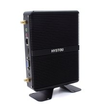 Barebone Micro Computer Mini Pc Desktops 6200U Hystou Fanless Windows 10 VGA I3 I5 7267U