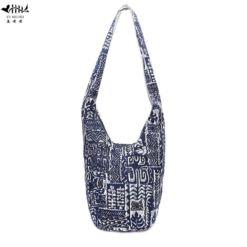 9ed55fd952 Unique Vintage Sling Shoulder Crossbody Bag Women Lady Girl Handbag Purse  Cotton Ethnic Bohemian Thai Top Hippie Bucket Bags