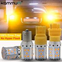 KAMMURI Không Có Lỗi Không Hyper Flash 21 Wát Điện Cao Amber BAU15S PY21W 7440 3156 LED Bulbs Đối Với Xe Phía Trước hoặc Phía Sau Bật Tín Hiệu Đèn