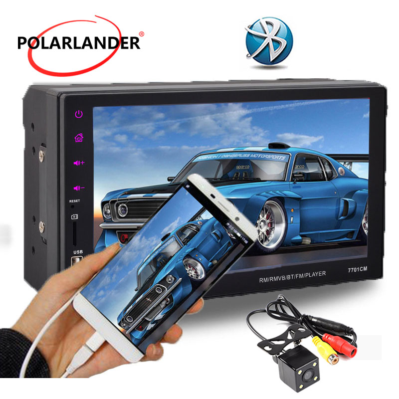 7 Car Radio Mirror Link For Android Stereo 2 Din With Camera MP5 Player Miroir de lecran Bluetooth USB/FM/Aux Touch Screen