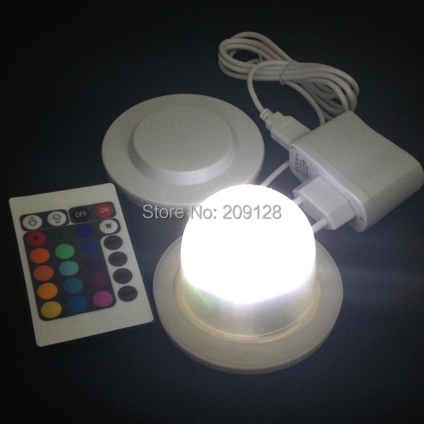 ФОТО round base rechargeable led candle light