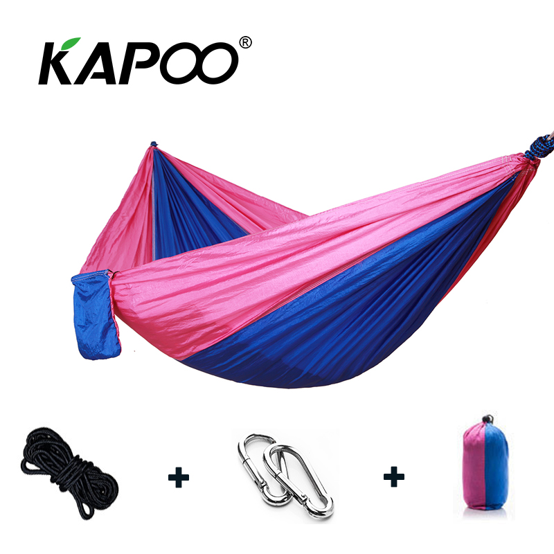 Leisure Outdoor Hammock Portable Parachute Hammock Outdoor Furniture Single Double Hammock Picnic Mat Camping Hammock outdoor parachute hammock single hammock double person hammock