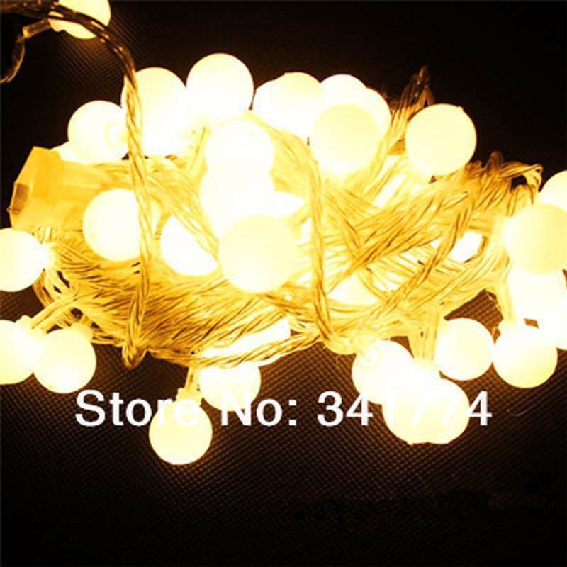m rgb led bola luces de cadena lampara guirnalda de navidad hada jardin de la boda al aire libre de iluminacion decorativa