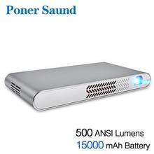 Poner Saund N1 DLP Portable Projector 15000MAh Battery Mini Projector