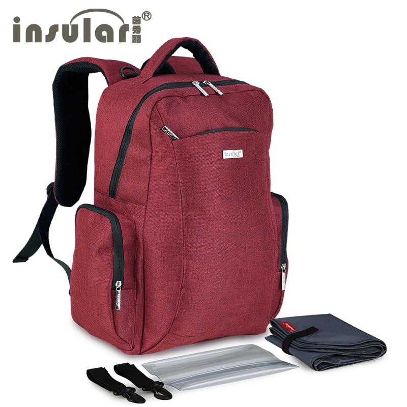 Multi functional large capacity shoulders Mummy diaper backpack mother baby shoulder waterproof nappy bag