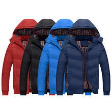 NIANJEEP winter jacket men men's coat winter brand man clothes casacos masculino Thick winter Puls Size 5XL black red Navy blue(China)