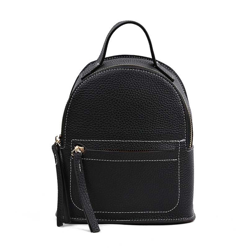 Korean Style Casual Small Backpack Female Leisure All match High Grade pu Leather Mini Backpack Shoulder