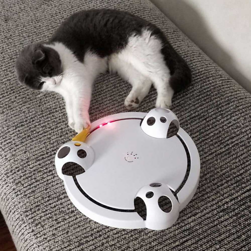 Funny Pet toy Automatic Cat Teaser Exercise Interactive Automatic Toys