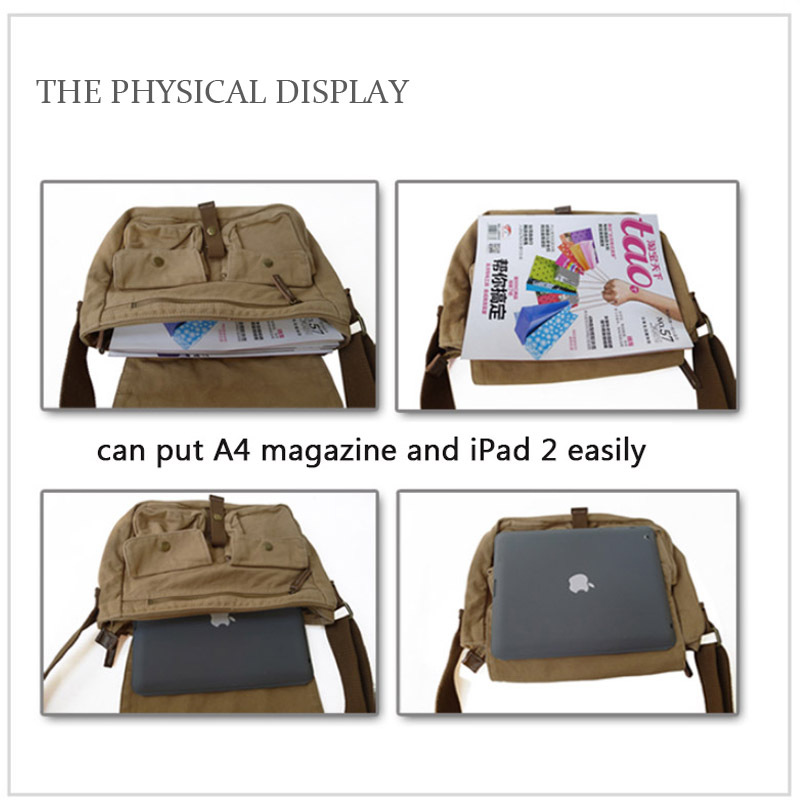 fe07939fe free shipping! new arrival fashion men canvas bags casual messenger zip men  side bag male brand hasp cover bag men s travel bags-in Crossbody Bags from  ...