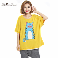 BelineRosa Summer T Shirt Women Sweet Character Printing And Shirt Women Tops Fit L 3XL TYW00358