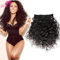 Clip In Human Hair Extensions 7A Virgin Brazilian Human Hair African American Deep Curly Remy Clip In Hair Extensions 10 or 7pcs