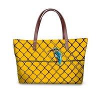 Noisydesigns Women Handbag Shoulder Bags yellow animals Retro Pattern Lady Messenger Hot Waterproof Handle Bags Bolsas Large