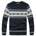 70% шерсть 3 цвет мужчин пуловеры свитера зима с длинным рукавом свободного покроя мода человек свитер синий белый кофе A2990