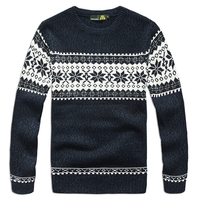 70% Wool 3 Color Men Pullover Sweaters Winter Long Sleeve Casual ...