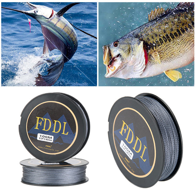 100M PE 4 Braided Fishing Line Practical Super Power Fit Any Rods Transparent waterproof Anti-aging line durable fishing