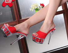 Förderung! 2016 Multicolor rose sandalen blume plattform flip-flops 15 cm thin high heels sexy hochzeit schuhe frauen pumpen