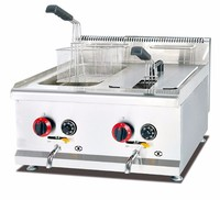 14L Capacity Counter Top Gas Deep Fryer with two tank and two basket WEW