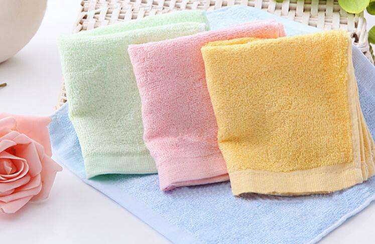 freeshipping 5pcs hot sale bamboo baby towel 25*25cm face towels baby care wash cloth kids hand towel bath towel for new born