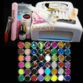 Burano Pro Nail Art UV Gel Kits sets Tools 36w UV lamp Brush Tips Glue Acrylic Powder Set #004 manicure set
