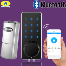 Golden Security Home Automation Bluetooth Lock Smart Touch Electronic Door Lock APP Control for Home Hotel Apartment Low Voltage