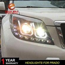 Car Styling Head Lamp case for Toyota Prado Headlight 2010 2011 LED Headlights DRL Daytime Running Light Bi-Xenon HID
