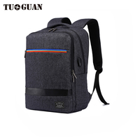 TUGUAN Notebook Bag External USB Anti Theft Charging Waterproof Laptop Backpack For Men And Women Business