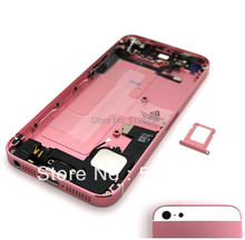 For Baby Pink&White Full Assemblly Midframe Plated Chassis Board Middle Frame Bezel Housing Replacement For iPhone 5