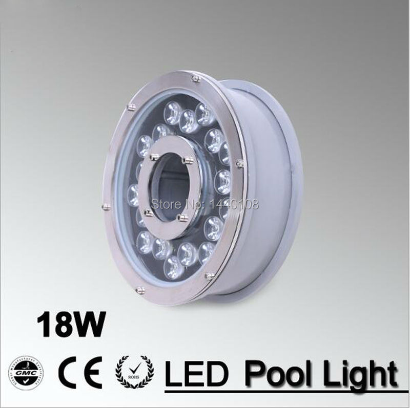 5pcs/lot RGB 18W Led Underwater Light, DC12V Waterproof IP68 Underwater Spotlights/Fountain/Pool Light 10w 450 lumen waterproof rgb led underwater lamp light with remote controller dc 12v