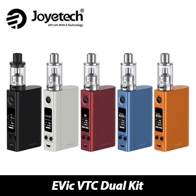 Original Joyetech eVic VTC Dual with ULTIMO Start Kit 75W 150W eVic VTC Dual Mod & 4ml ULTIMO Atomizer Tank Vape without Battery стоимость