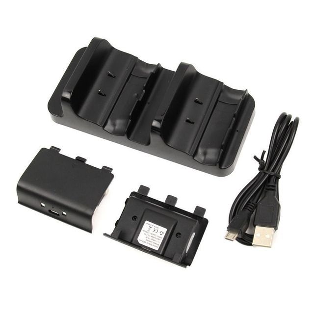 Двойной Зарядки Док Контроллеры Зарядное Устройство + 2x300 мАч Аккумуляторных Батарей Для Xbox One Беспроводной Контроллер Двойной Заряд Док