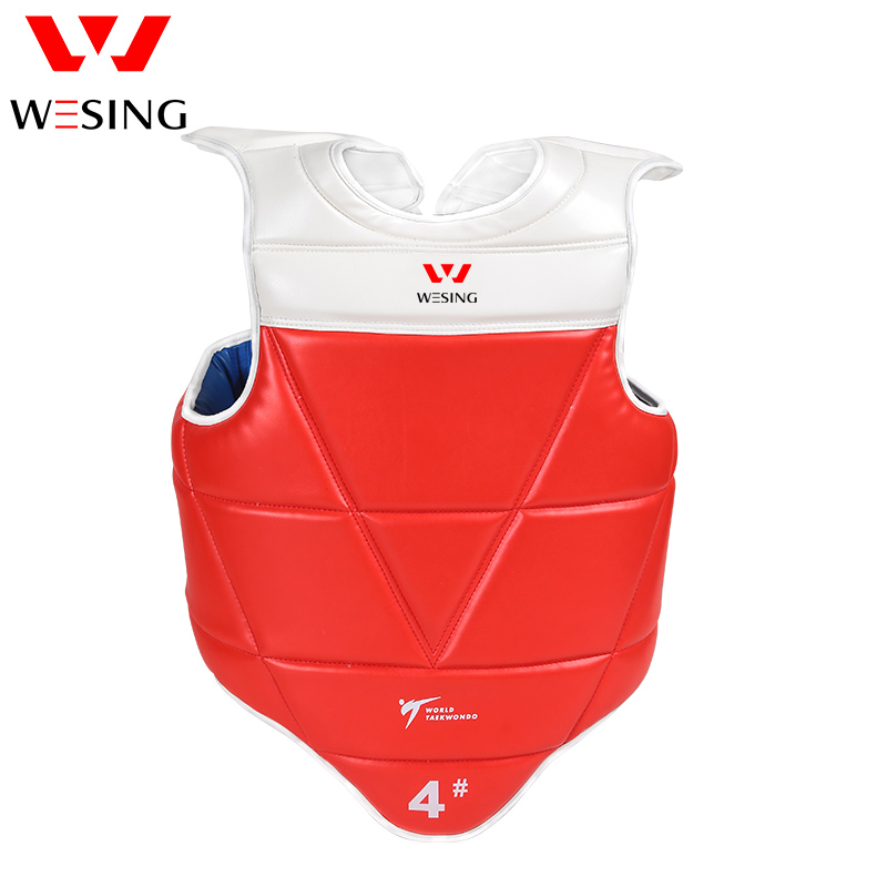 Wesing WTF approuvé Taekwondo poitrine garde TaeKwonDo solide réversible poitrine protecteur Gear compétition grande taille