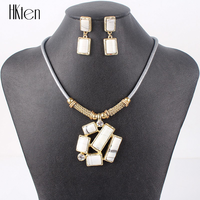 MS17229 Fashion Jewelry Sets Woman's Necklace Earring Set 5Colors Bridal Jewelry Christmas Gifts New Arrival