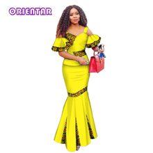 2018 Summer Women Dress Skirt Sets Traditional African 2 Pieces Women Set Clothing Custom Made Tops + Skirts Hot Sale WY2886