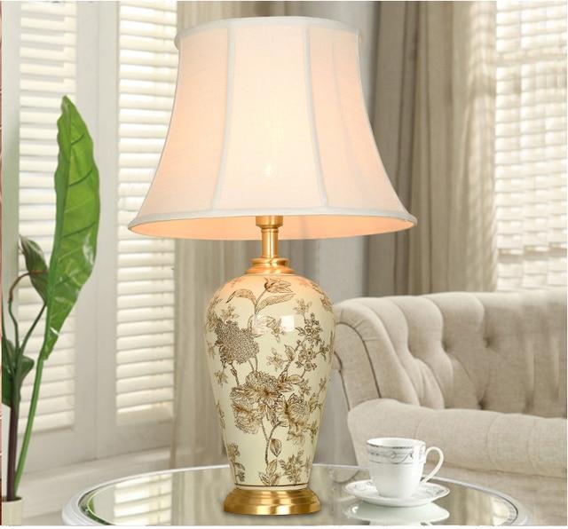 Sztuki Chińskiej Porcelany Jingdezhen Ceramiczna Lampa Stołowa Lampa
