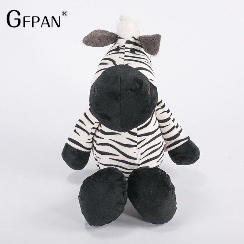 1pcs 25cm Super Quality Cute Zebra Stuffed Doll Fierce Jungle Brothers Plush Toys Kawaii Dolls For Chidren Birthday Presents стоимость