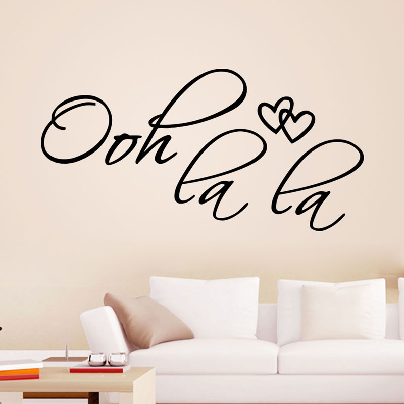 OOH LA LA Vinyl sticker Waterproof removable stickers bedroom Living room home decor pvc ...