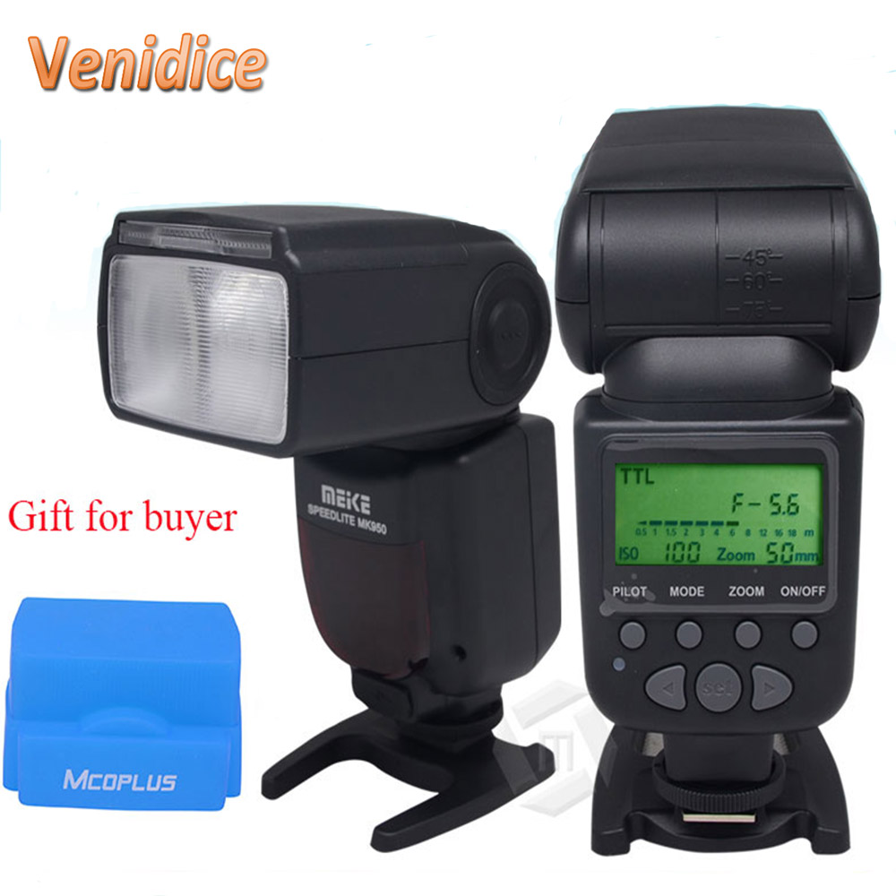 ФОТО Meike MK-950C E-TTL GN53 Flash Speedlite for Canon EOS 5D Mark II 7D 60D 70D 600D 700D 650D