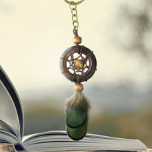 New styledreamcather  key chain national style feather handicrafts dream trap key chain pendant hanging ornaments womens girls g