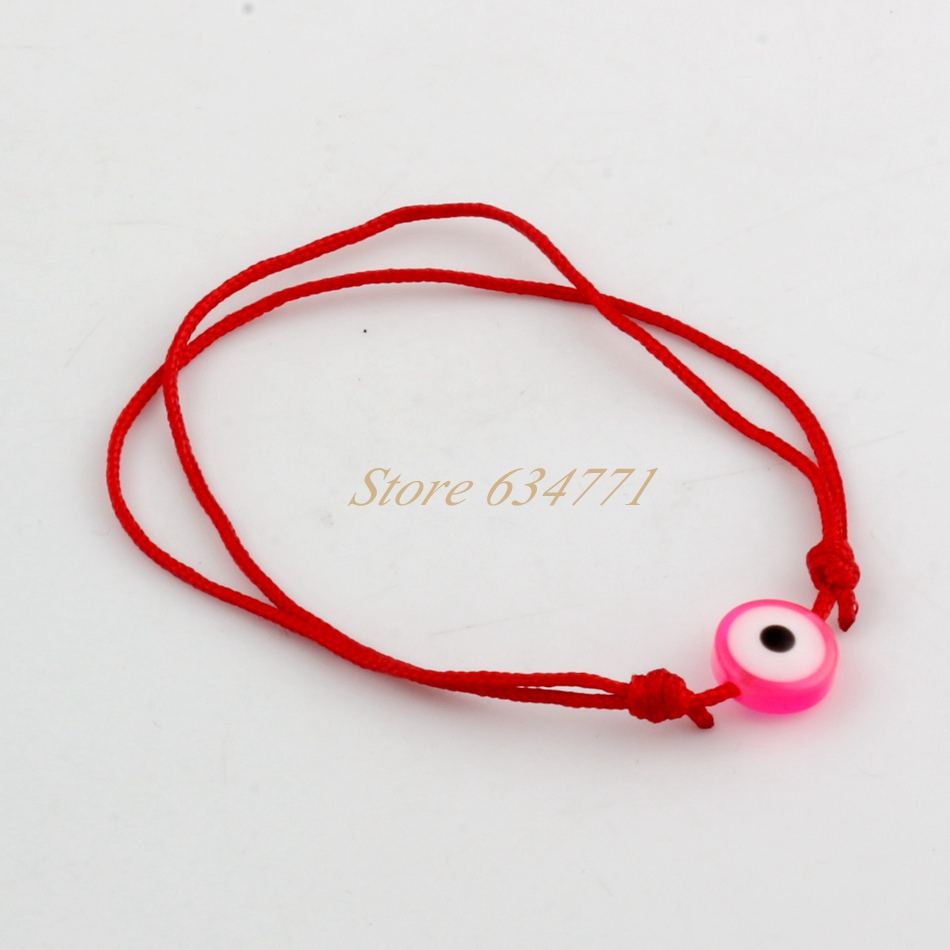 100pcs Kabbalah Red String Bracelet Mix Color Resin Eye Bead Protection Health Luck Hiness Bracelets In Charm From Jewelry Accessories