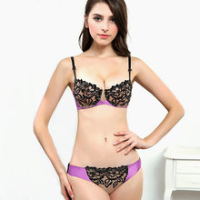 Bra brief sets sexy bra sets Ultrathin and transparent sexy lace embroidery underwear sets  women lace brassiere lingerie set