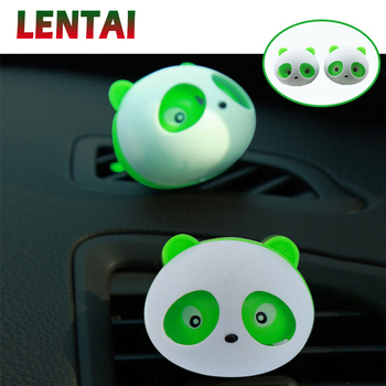 LENTAI For Hyundai solaris i30 tucson 2017 ix35 accent Land Rover Ssangyong 1Pair Car Air Outlet Perfume Panda styling image