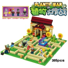 New arrive plants vs zombies Garden maze struck game action toy & figures anime figure Building Blocks Bricks brinquedos toys