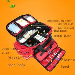 Image 2 - Kit de primeros auxilios para exteriores, bolsa de mensajero cruzada impermeable de nailon rojo para deportes al aire libre, bolsa de emergencia para viaje familiar DJJB020